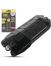 Nitecore Tube Keychain Light - USB Rechargeable 55 Lumens 9.3g [New Version - 2020] [Black]