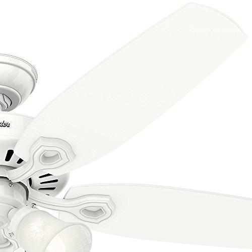 Hunter 53236 Builder Plus 52-inch Ceiling Fan, Snow White by Hunter Fan Company (Image #3)'