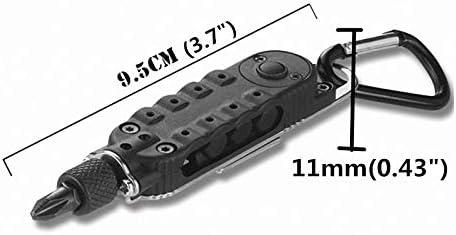 Muchfunny Attrezzi di Riparazione Durevole Multifunzione di Mini Cacciavite Portatile con Luce LED