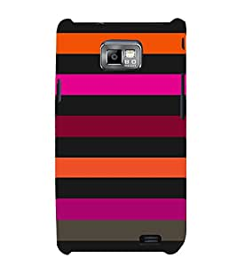 Dashing Color Pattern 3D Hard Polycarbonate Designer Back Case Cover for Samsung Galaxy S2 :: Samsung Galaxy S2 i9100