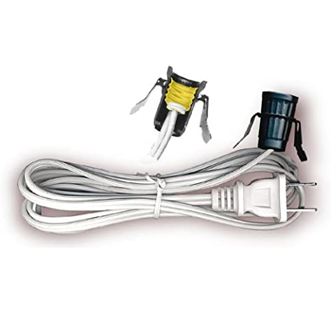 1 New Fused 6/' Foot C7 Replacement Blow Mold Christmas Outdoor Light Cord//Socket
