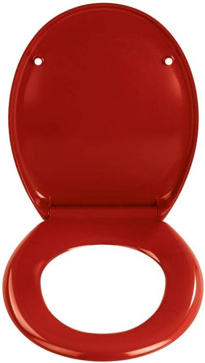 Tapa de inodoro con descenso autom/ático tapa de WC de pl/ástico duro asiento de inodoro Hengmei 45 x 38 cm
