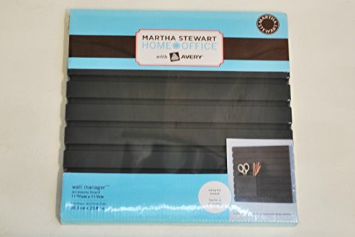 Martha Stewart Home Office™ with Avery™ Wall Manager Accessory Board 21600, Graphite, 11-15/16
