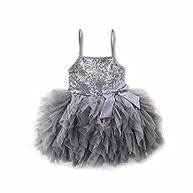 Toddler Girls Lace Princess Dress Sundress Wedding Party Tulle Tutu Skirt