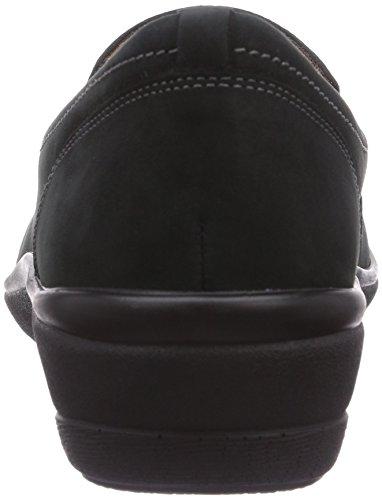 Ganter SENSITIV HELGA, Weite H - Zapatillas de casa de cuero mujer gris - Grau (ozean 3000)