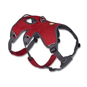 Ruffwear - Web Master Secure, Reflective, Multi-Use Harness for Dogs, Red Currant, Large/X-Large