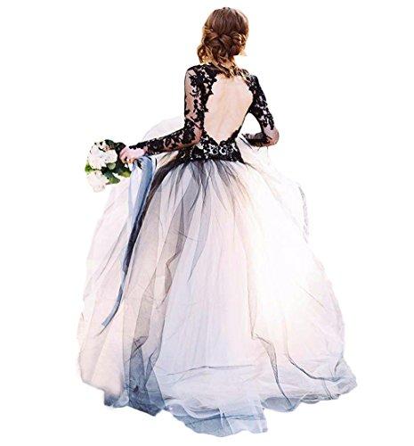 Robes De Bal Cou Dentelle Backless V Femmes Dressesonline Pour La Mariée Avec Des Manches Longues Noires
