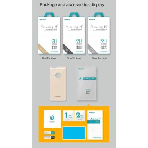 Nillkin H Anti-Explosion Glas Back Displayschutz für Apple iPhone 6 Plus silber (Retail-Verpackung)