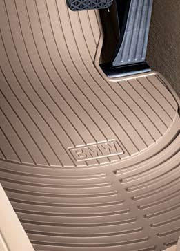 BMW 3 Series (E90, E91, E92, E93)) 2006-2012 all-weather rubber floor mats -- FRONT Set of 2 - Beige (actual color is light (Bmw Front Floor Mat)