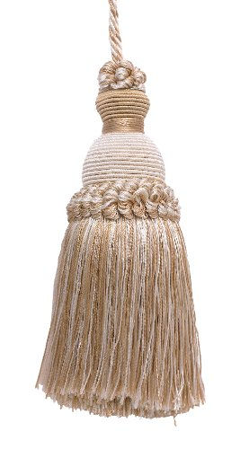 "Decorative 5"" Key Tassel, Ivory, Light Beige Imperial II Collecion Style# IKTJ Color: WHITE SANDS - 4001"