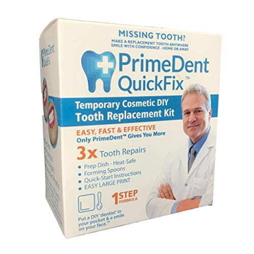Primedent Quickfix 1 Temporary Tooth Replacement Repair Kit With