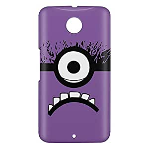 Loud Universe Motorola Nexus 6 3D Wrap Around Minion Evil Face Simple Print Cover - Multi Color