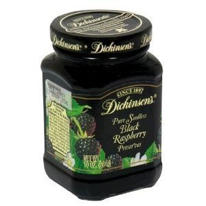Dickinson's Preserves 8 Oz (Pack of 3) (Pure Seedless Black Raspberry) (Seedless Black Raspberry Jam)