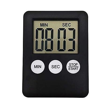 Soulpoint - Reloj de Cocina con Pantalla Digital LCD, Temporizador Cuadrado, Alarma de Cuenta atrás, imán