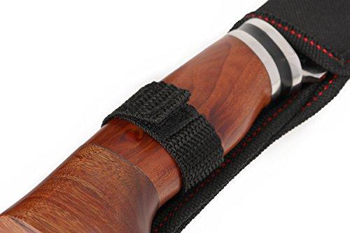 Columbia feststehendes Jagdmesser aus rostfreiem Edelstahl mit Tasche, grau, Outdoor-Messer A3167