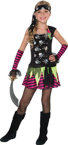 Girl's Punky Pirate Costume, Medium