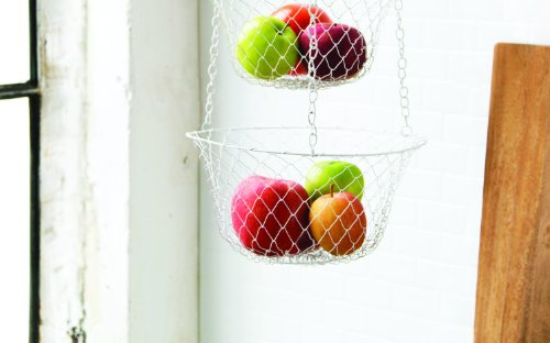 Fox Run 3 Tier Hanging Fruit Vegetable Kitchen Storage