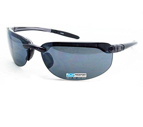Rimless Sport Sunglasses Light Weight. Smoke Brown or HD Vision - Sunglasses Like Maui Jim