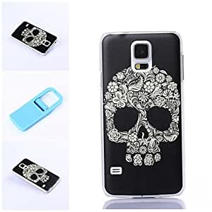 YULIN Exquisite Skull Pattern Plastic Hard Case and Mini Diaplay Stand for Samsung S5 I9600