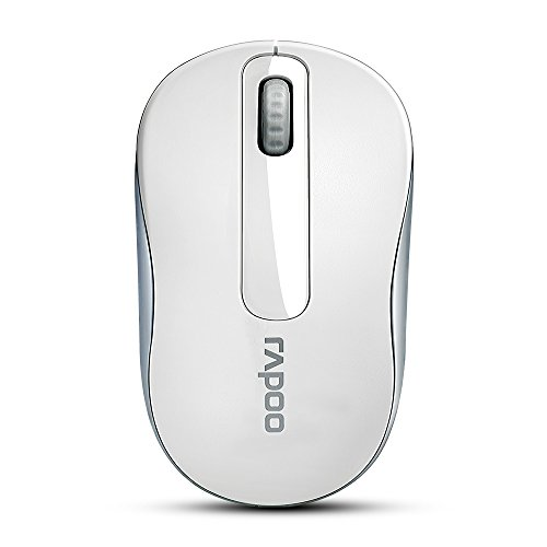 Wireless Mobile Mouse, RAPOO 2.4G Wireless Lightweight Portable Mouse, USB Receiver, 1000 DPI, Long Range and Battery Life, Suitable for Laptop, Notebook, PC, Computer, All-Day Comfort-White