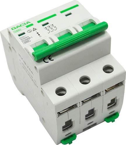 Leitungsschutzschalter LS-Schalter MCB Sicherungsautomat B25A 3P GACIA T/ÜV