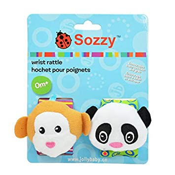Bundle Activity Socks /& Wrist Rattles Cow Dog Sozzy Soft Baby Toy FREE UK POST