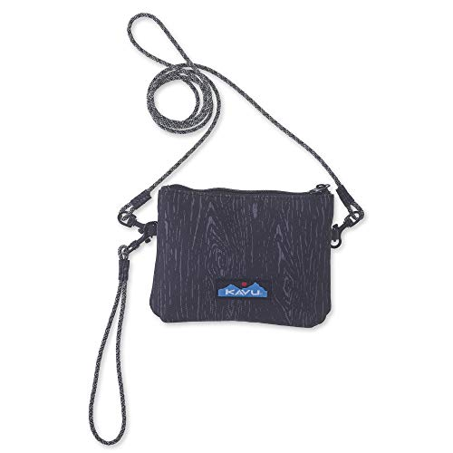 KAVU Renrose Crossbody Wallet with Rope Strap - Black Oak