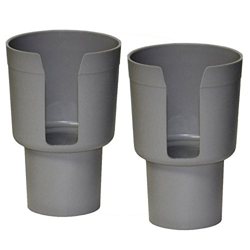 - Gadjit Cup Keeper Gray 2-Pack Car Cup Holder Adapter Expands Cup Holders to Hold Mugs, Convenience Store Cups, Water + Soda Bottles with up to 3.6
