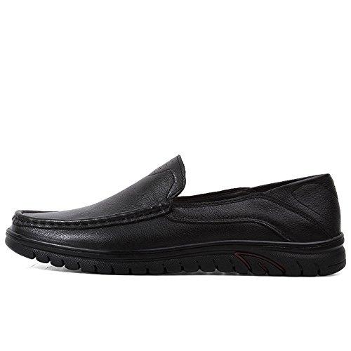 Cuero Zapatos tamaño Ocio amp;Baby Hombres conducción 44 de Negro Libre Color al de Wave de Mocasín Hollow los Antideslizante Respirable Mocasín Genuino Aire Sunny Vamp de Mocasines en Sole EU Balck adpUvwxp