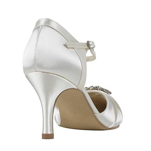 London Dos Elegance Zapatos Parte Puntiagudo De Satén Corte Ivory Paradox Pink Boda Extremo ZOqnwd66U