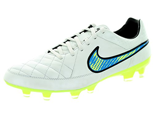 Nike Tiempo Legacy FG - Zapatillas de fútbol para hombre Weiß (WHITE/VOLT-LGHT AQ-CLSSC CHRCL)
