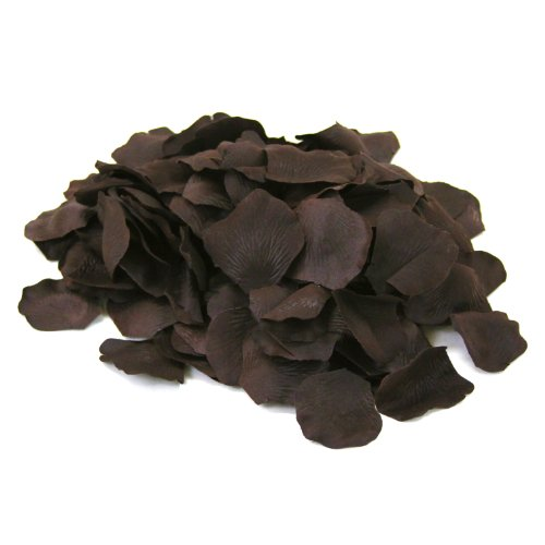 Fall Vases (Koyal Wholesale 200-Pack Silk Rose Petals, Espresso)