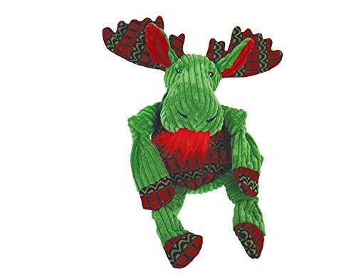 Hugglehounds Corduroy Holiday Green Moose w/Sweater Knottie (Super Sized)