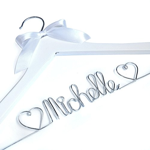 Wedding Hanger, Personalized Wedding Hanger,Wire Wrapped Hanger, Bride Gift, Bride Hanger