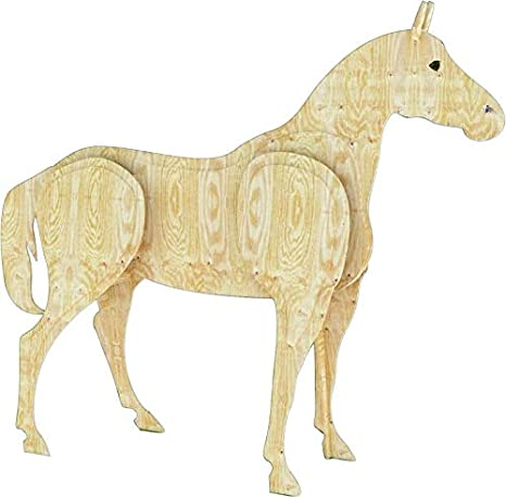 A Woodworking Plan To Build A 3 D Life Size Horse No Wood Included