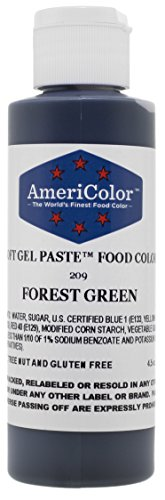 Americolor Soft Gel Paste Food Color, 4.5-Ounce, Forest Green ()