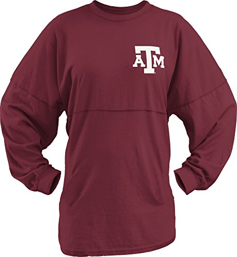 Three Square by Royce Apparel NCAA Texas A&M Aggies Junior's Big Time Outline Sweeper, X-Large, Maroon