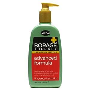 ShiKai Borage Natural Therapy Dry Skin Lotion, Unscented Advanced Formula, 8 Ounce
