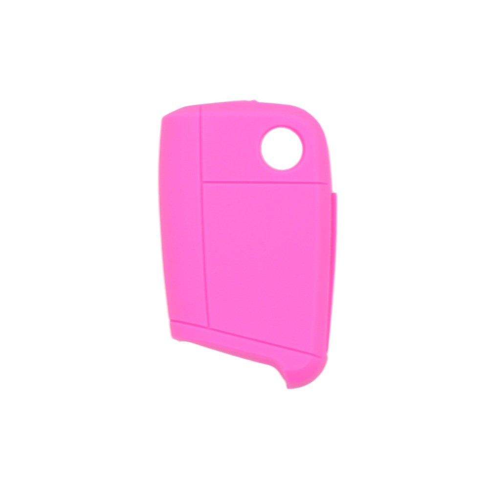 SEGADEN Silicone Cover Protector Case Skin Jacket fit for VOLKSWAGEN 3 Button Flip Remote Key Fob CV9803 White