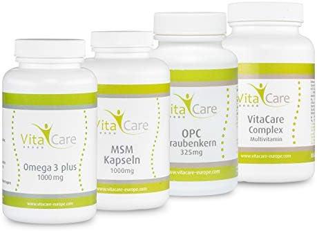 [Gesponsert]VitaCare 21-Tage-Stoffwechselkur – HCG-Diät Komplettpaket mit Anleitung – MSM Kapseln, Multivitamin Complex, Omega...