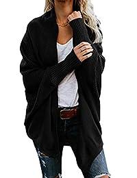 Suvimuga Womens Cardigan Sweater Open Front Batwing Sleeve Knit Outerwear