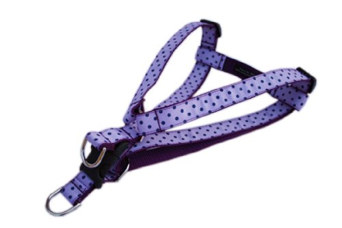 Sassy Dog Wear 18-24-Inch Orchid/Navy Polka Dot Dog Harness, Medium from Sassy Dog Wear