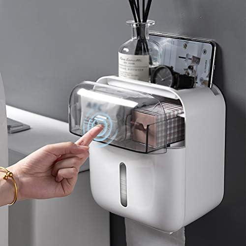 防水トイレットペーパーホルダーディスペンサーホーム浴室収納ボックスポータブルティッシュボックス用トイレ浴室アクセサリー