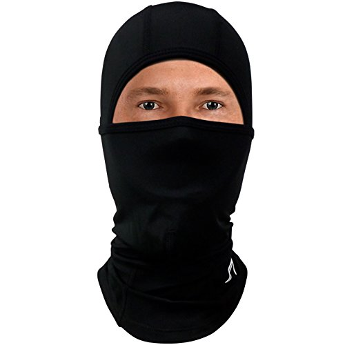 Balaclava Face Mask for Cold Weather (6-in-1): Best Winter Ski Mask for Motorcycle, ATV, Snowboard - Neck Warmer with Full Hood - Tactical Gear / Helmet Liner / Outdoor Accessories - Mens, Womens Neck Gear