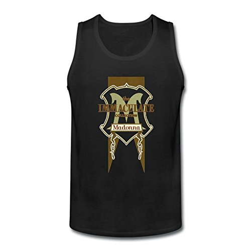 RNUER The Immaculate Collection Madonna Men's Vest Tank Top 100% Cotton