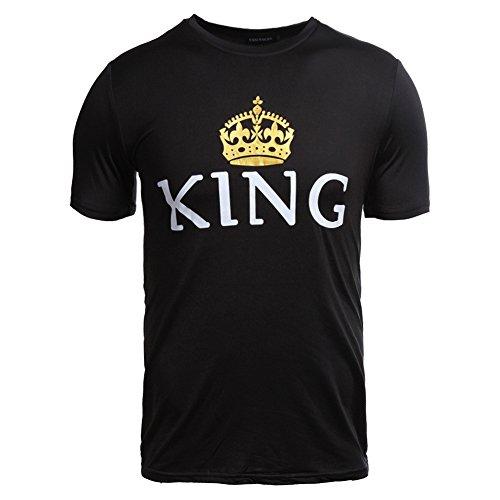 Donna Regina Maglietta Coppie Nero Shirt Queen T Tops Shirt per Uomini Le King Coppia Casuale xw0qwIvHU