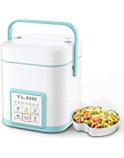 TLOG Mini Rice Cooker 2 Cups Uncooked,1.2L Portable Rice Cooker, Travel Rice Cooker Small for 1-2 People, Personal Rice Cooker, Food Steamer, Multi-cooker for Brown Rice, White Rice, Soup, Porridge, Yogurt