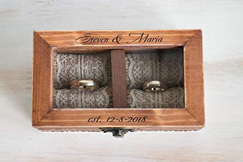 Cheap Wedding ring box, Personalized wedding box, Ring bearer box, Ring Bearer Pillow, Engagement box, Custom Wedding Ring Box Wedding Ring Holder