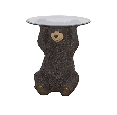 Powell's Furniture 16C2000 Barney Bear, Dark Brown Accent Table,]()