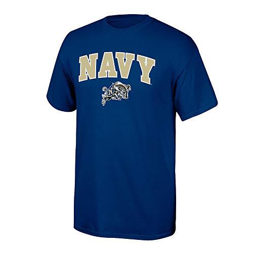 Elite Fan Shop NCAA Men's Navy T Shirt Team Color Arch Navy Midshipmen Navy -